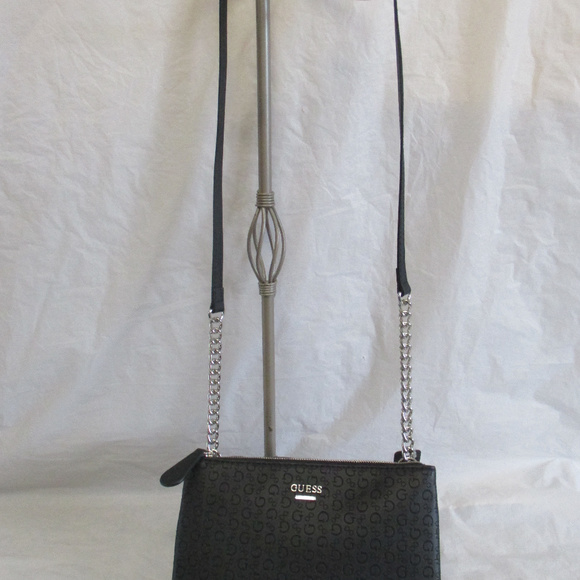 Guess Crossbody Handbag Black Eddington Mini acb80cb78afa0